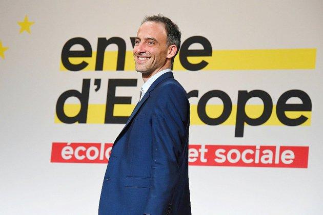 Tête de liste PS aux Européennes, Raphaël Glucksmann à Rouen le 15 mai