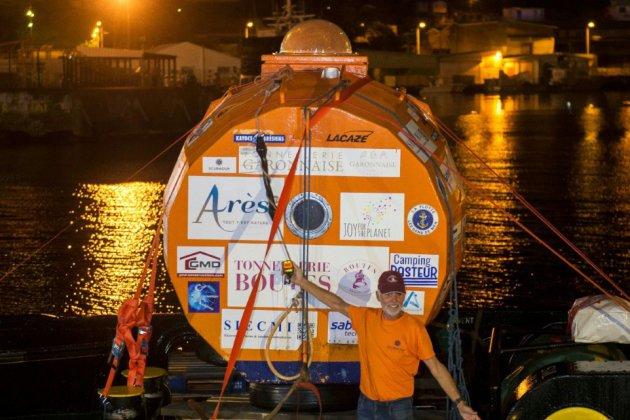Traversée de l'Atlantique: l'aventurier au tonneau à bon port