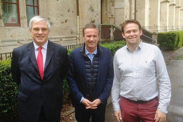 Européennes : tête de liste Debout la France, Nicolas Dupont-Aignan à Rouen