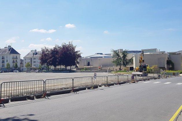 Parking du Champ-de-Mars à Saint-Lô: c'est parti pour deux semaines de travaux