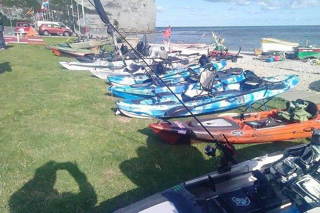 Concours de pêche en kayak à Yport