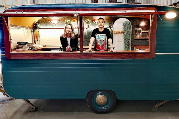 À Rouen, le food-truck la cabane à Mijo s'installe sur les quais