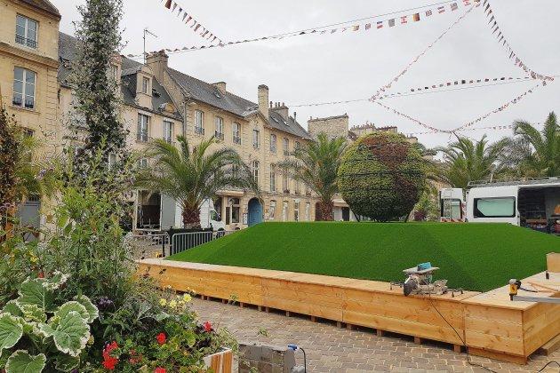 Caen: un jardin d'été aux couleurs du 75e anniversaire du Débarquement