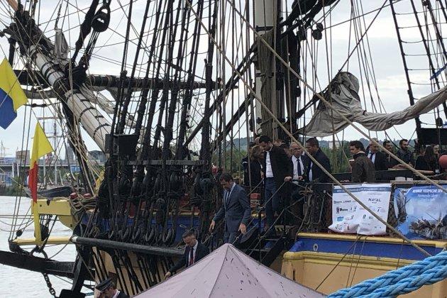 Armada de Rouen : Christophe Castaner a visité l'Hermione