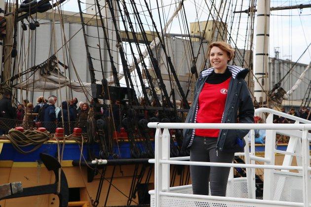 Sabine Le Blond, gabière sur l'Hermione, prépare son premier voyage