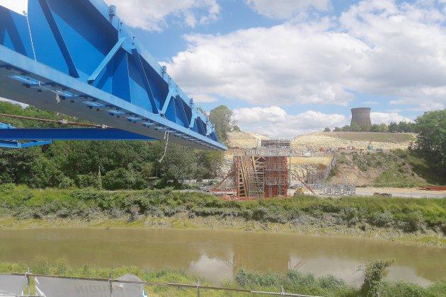 Caen: Le chantier de la desserte portuaire avance dans les temps
