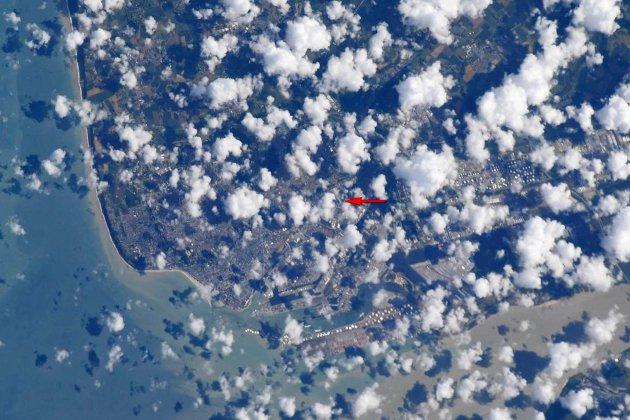 Coupe du monde : une photo du Havre depuis l'espace pour l'équipe américaine!