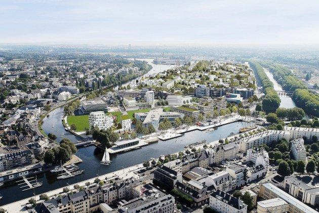 Caen. Caen: le futur quartier de la presqu'île à l'épreuve des eaux