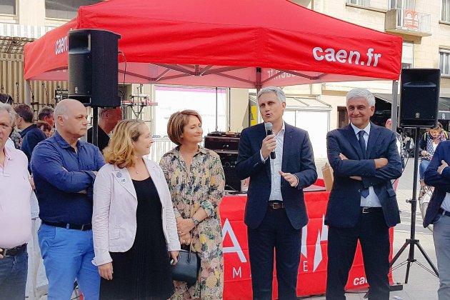 À Caen: inauguration du boulevard Maréchal Leclerc, devenu piéton