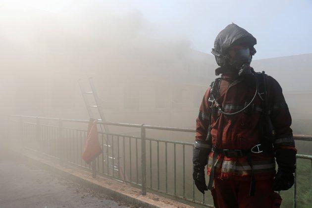 Immersion au cœur d'un bâtiment en feu avec les pompiers du Calvados