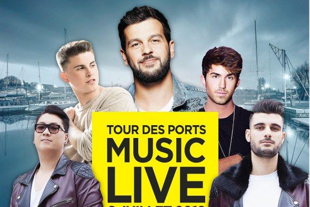 Claudio Capéo en concert pour le Tour des Ports de la Manche à Carentan