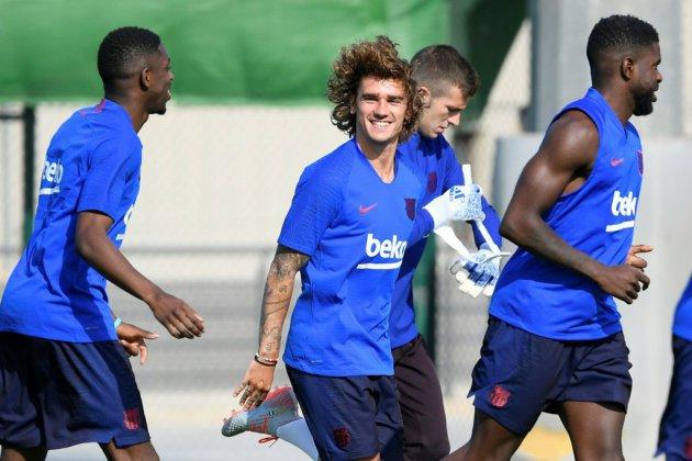 Football: Griezmann a effectué son premier entraînement avec Barcelone