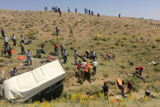 Turquie: 17 morts dans l'accident d'un minibus de migrants (agence)