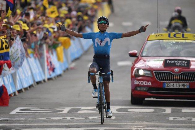"""Tour de France: la """"fiesta"""" colombienne avec Quintana et Bernal"""