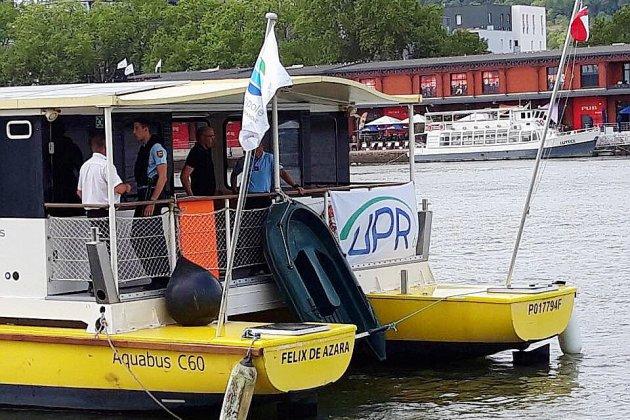 La navette fluviale de Rouen contrôlée par les gendarmes