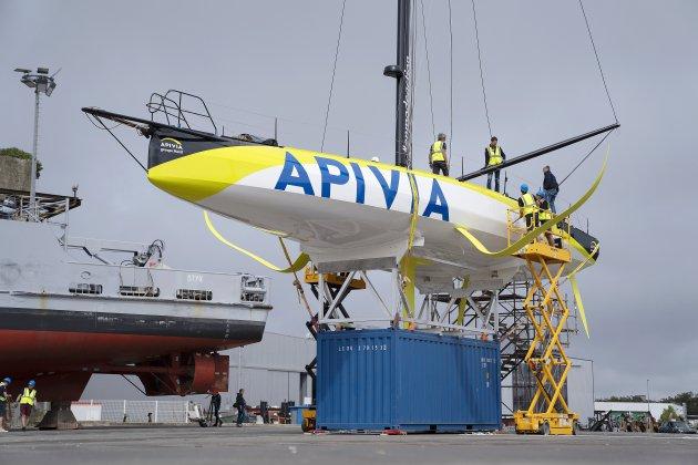 Voile : le skipper du Havre Charlie Dalin met à l'eau son nouveau bateau