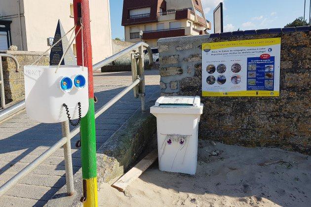 Déchets plastiques sur les plages : une idée pas bidon dans le Calvados