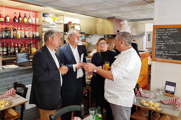 Visite à Bolbec pour la promotion de l'artisanat