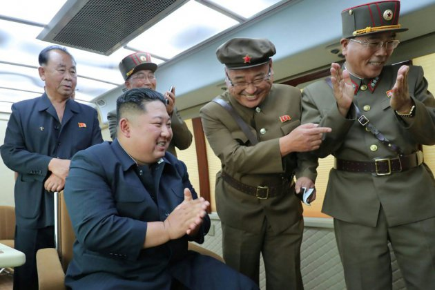 Kim a supervisé l'essai d'une