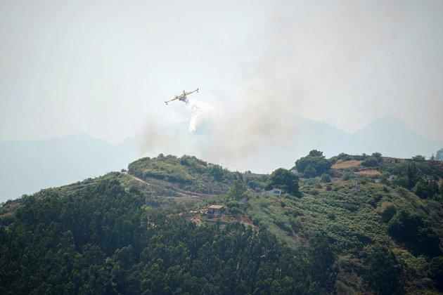 L'incendie de Grande Canarie faiblit, fait moins de dégats qu'on ne le craignait