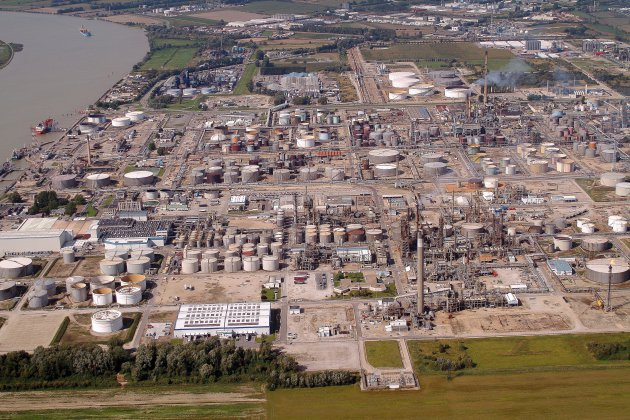 Fuite de gaz à ExxonMobil Gravenchon