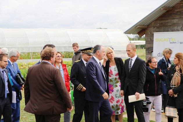Le ministre de l'agriculture en visite en Normandie