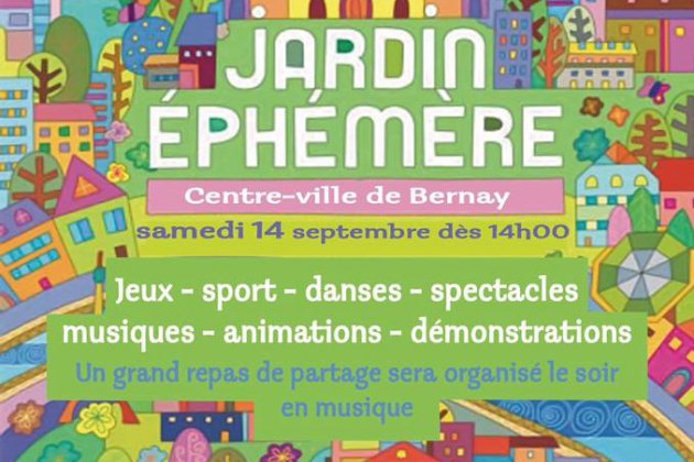 Bernay. 2ème édition de Jardin Ephémère à Bernay