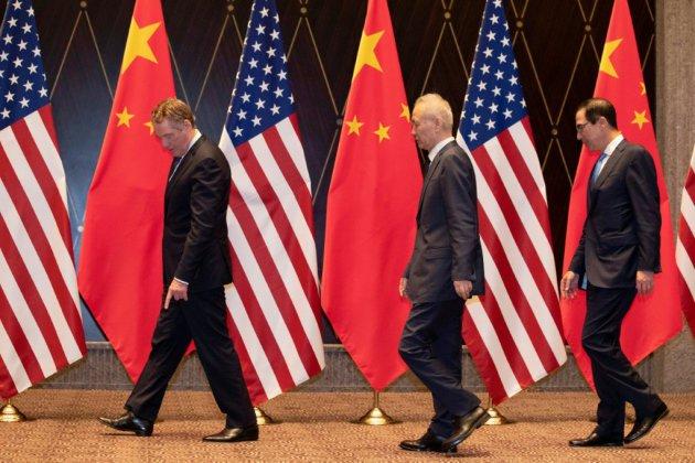 """Négociations commerciales avec Pékin: Washington veut """"des progrès substantiels"""""""