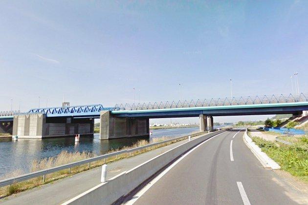Le Havre: travaux à l'approche du Pont de Normandie