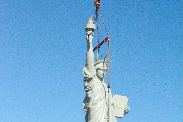 Après l'Armada, la statue de la Liberté est revenue à Barentin