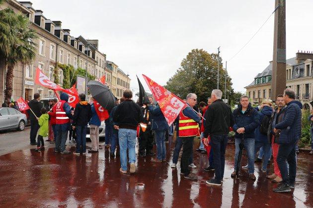 Rassemblement à Cherbourg contre la réforme des retraites