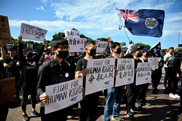 Manifestations de soutien à Hong Kong à Sydney et Taipei