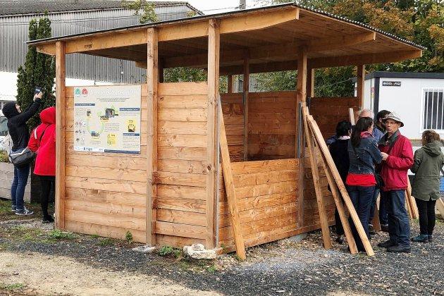 Un pavillon de compostage sur la presqu'île