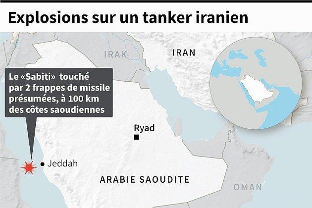 Un tanker iranien touché par de