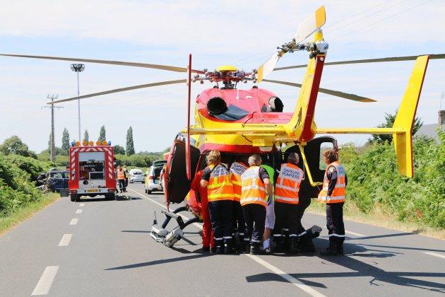 Un blessé grave héliporté à la suite d'un accident de la route