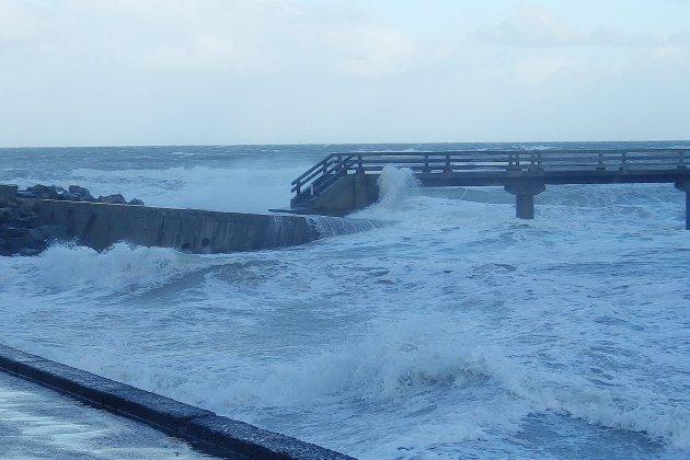 Pluie et vent : prudence sur le littoral normand