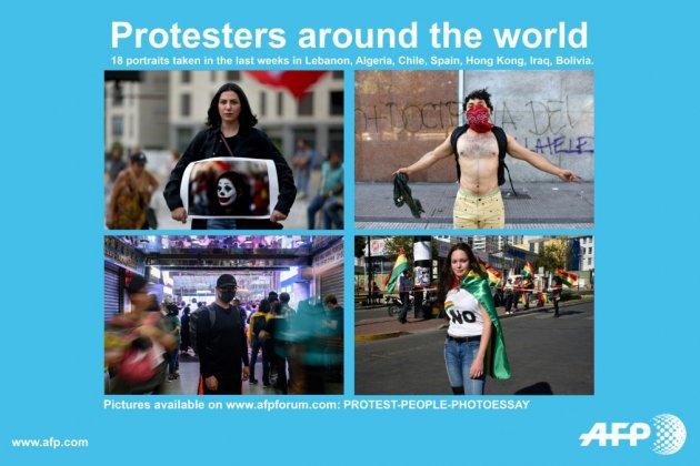 Détermination et espoirs de manifestants à travers la planète