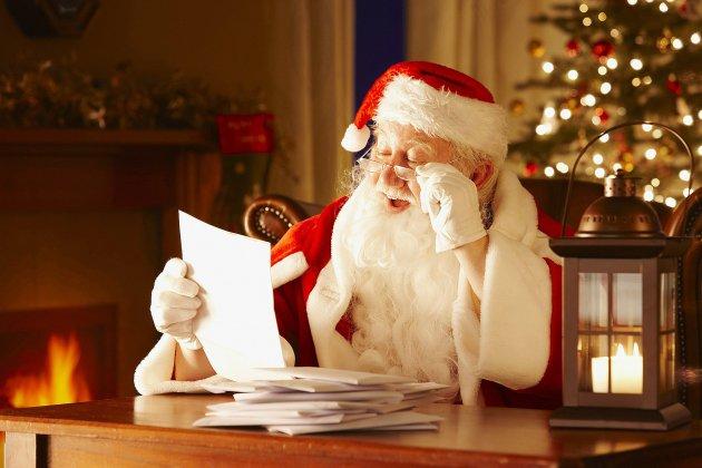 La boite aux lettres du Père-Noël ouverte