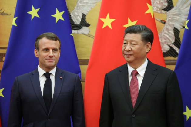 """Climat: Macron et Xi réaffirment leur soutien à l'accord """"irréversible"""" de Paris"""