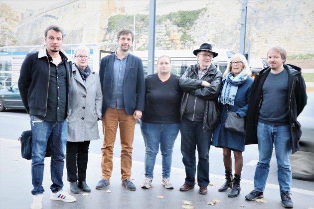 Le collectif de gauche Caen en commun échange avec les habitants