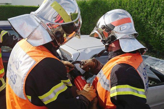 Une fuite de gaz provoquée par un accident de la route