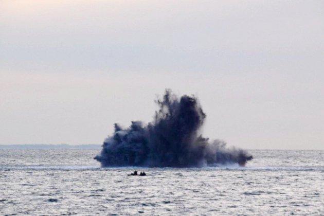 Dieppe. Plus de 20 bombes de la Seconde Guerre mondiale neutralisées au large