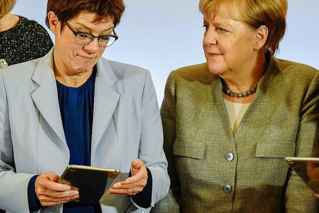 Les conservateurs d'Angela Merkel réunis pour un congrès sous tension