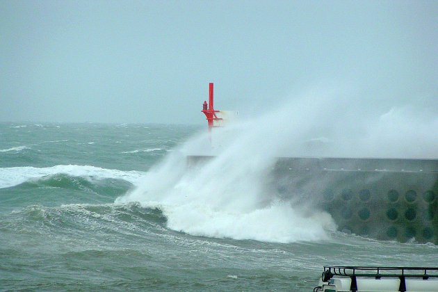 Fort coup de vent en Manche, jusqu'à plus de 90km/h !