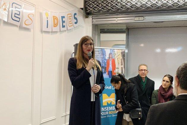 "Municipales: Marine Caron ""émue"" à l'inauguration de son local"