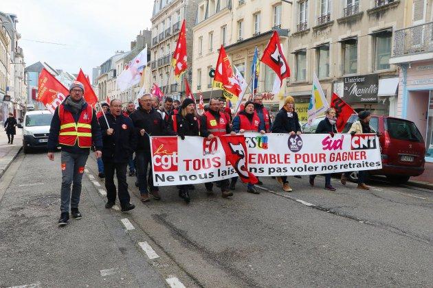Entre 1000 et 2000 manifestants à Cherbourg