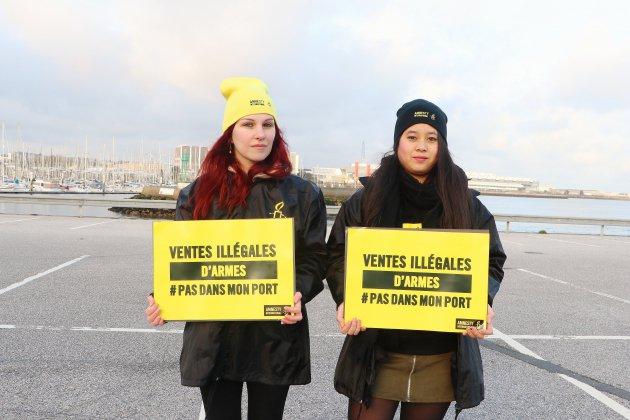 Des militants dénoncentl'arrivée du navire saoudien Bahri Yanbu