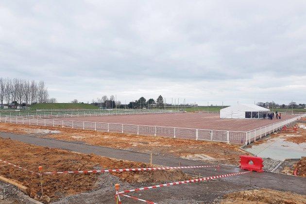 Le stade Youri Gagarine en pleine rénovation jusqu'en 2025