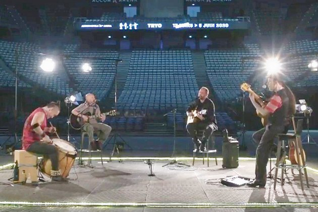 Tryo en concert dans une salle... complètement vide