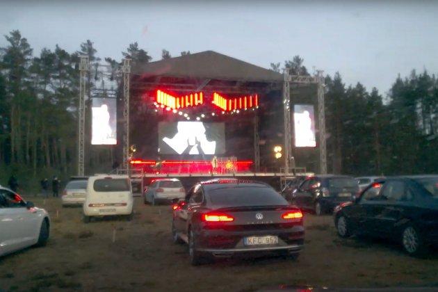 Les concerts Drive-in émergent en Europe